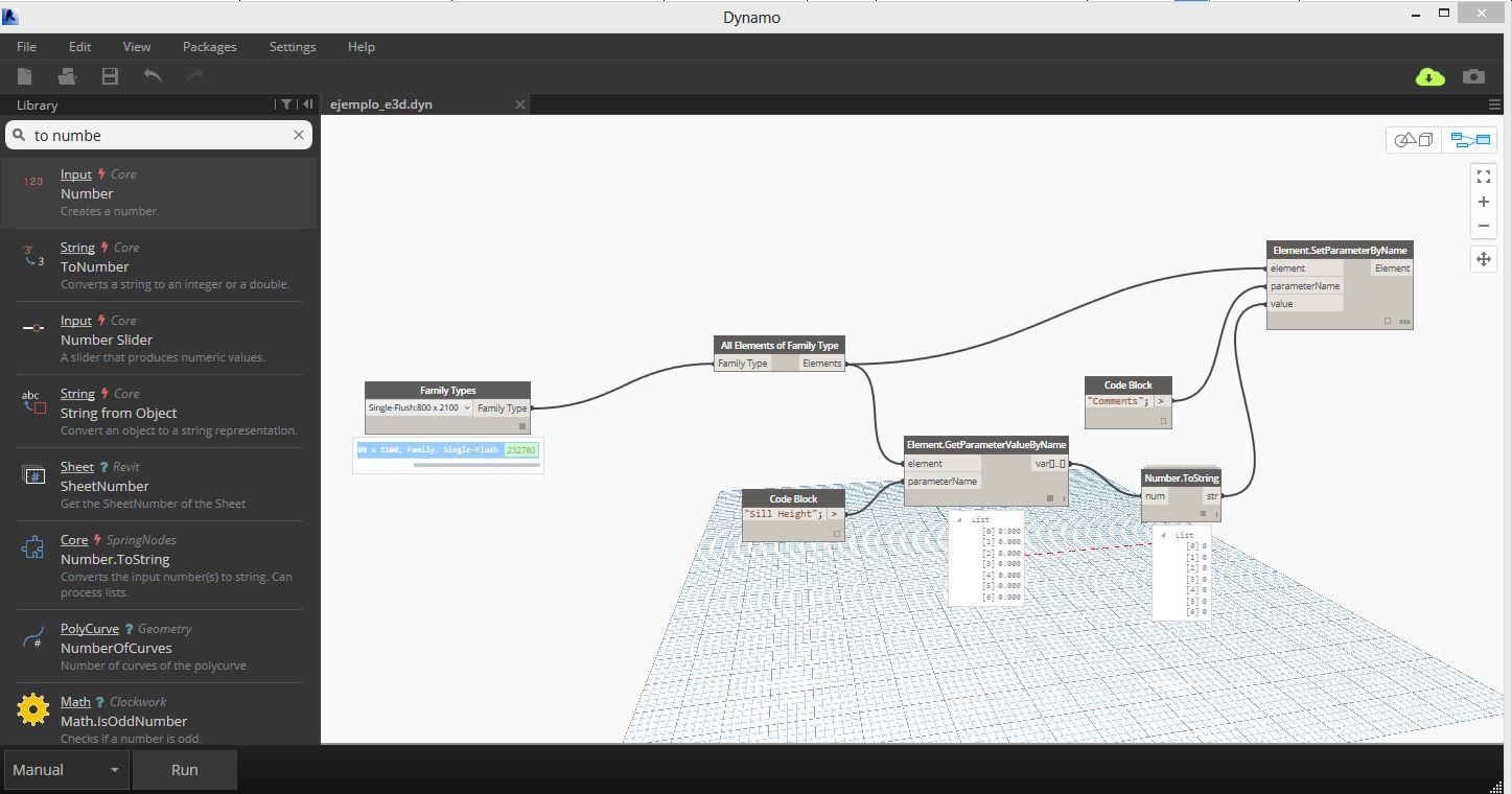 programar con la API de Revit E3D_DYNAMO