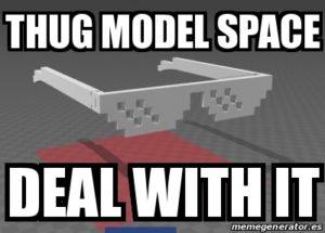Thug model space